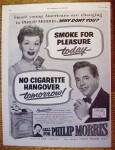 Click to view larger image of 1952 Philip Morris w/Lucille Ball & Desi Arnaz (Image1)