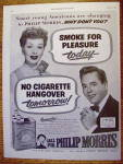Click to view larger image of 1952 Philip Morris w/Lucille Ball & Desi Arnaz (Image2)