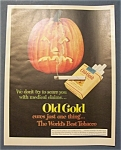 1952 Old Gold Cigarettes with a Jack-O-Lantern