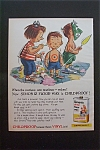 1959 Simoniz Vinyl Floor Wax w/Boys & Paint