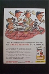 1959 Simoniz Vinyl Floor Wax w/Baseball Players & Shoes
