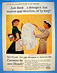 1957 Oxydol Detergent with Woman Hiding Box