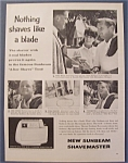 Click here to enlarge image and see more about item 7777: 1961  Sunbeam  Shavemaster w/  Wally  Burkemo