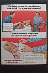 1957 Tide Detergent w/Man & Woman By Washing Machine