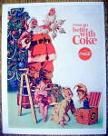 1965 Coca-Cola (Coke) with Santa Claus & Ornament