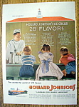 Click to view larger image of 1955 Howard Johnson Ice Cream with Kids At Counter  (Image1)
