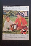 1959 7 Up (Seven Up) with Man & Woman Sitting in Grass