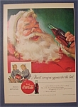 1955 Coca Cola (Coke) with Santa Claus