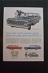 1959 Chevrolet with 4 Different Chevy Models