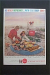 1959 Coca Cola (Coke) with Women Setting Up Picnic