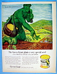 Click to view larger image of 1961 Green Giant Niblets with Jolly Green Giant (Image1)