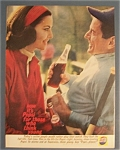 1961 Pepsi-Cola (Pepsi) with Man & Woman Drinking
