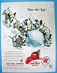Vintage Ad: 1952 Texaco Gasoline with Dalmatians