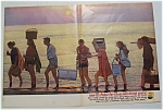 Click to view larger image of 1961 Pepsi-Cola (Pepsi) with Group of People on Beach (Image1)