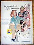 1957 Pepsi Cola (Pepsi) with Woman Painting Chair