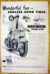 1950 Harley Davidson Hydra Glide with Man & Woman