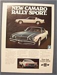 1975 Chevrolet Camaro Ad with Rally Sport