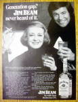 1972 Jim Beam Whiskey with Bette Davis & Robert Wagner