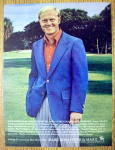 Click to view larger image of 1972 Hart Schaffner & Marx Blazer with Jack Nicklaus (Image1)