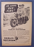 1947 Harley-Davidson Motorcycles with Man & Woman