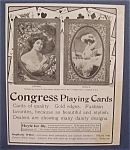 1904 Congress Playing Cards with Front Cover of Cards