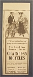 Vintage Ad: 1904 Chainless Bicycle