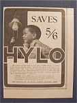 Vintage Ad: 1904 Hylo Light Bulb