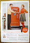 1955 Coca Cola (Coke) with Man & Woman By Soda Machine