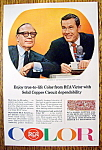 Click to view larger image of 1965 RCA Color with Johnny Carson & Jack Benny (Image1)