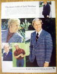 Click to view larger image of 1973 Hart Schaffner & Marx with Golfer Jack Nicklaus (Image1)