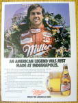 Click here to enlarge image and see more about item 8454: Vintage Ad: 1985 Miller High Life Beer w/Danny Sullivan