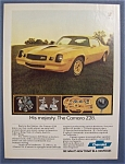 1977 Chevrolet Camaro Ad with Camaro Z28