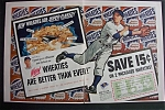 1952 Wheaties Cereal w/Bob Feller (2 pg ad)
