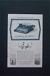 1928 L C Smith & Corona Typewriter with Channel Blue