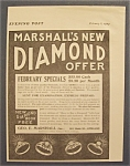 Click here to enlarge image and see more about item 8667: 1904  Marshall's  Diamonds