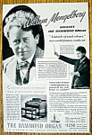 Click to view larger image of Vintage Ad: 1937 Hammond Organ with Willem Mengelberg (Image1)