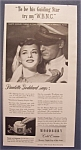 Vintage Ad: 1943 Woodbury Cold Cream w/Paulette Goddard
