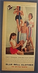 1959 Blue Bell Clothes with Woman & Three Children