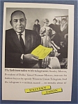1958  Western  Union  Telegram  with  Stanley  Marcus