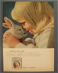 1964 Northern Tissue with a Little Girl Holding Bunny
