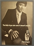 1971 Pub Cologne with Joe Namath