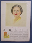 1956 Breck Shampoo w/Woman with Green Eyes & Gray Hair