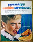 Click to view larger image of 1965 Sunkist Oranges with Girl Eating Orange (Image1)