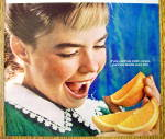 Click to view larger image of 1965 Sunkist Oranges with Girl Eating Orange (Image2)