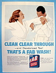 Click to view larger image of 1957 Fab Detergent with Man Sniffing Woman's Robe (Image1)