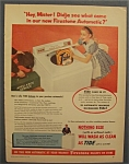 Vintage Ad: 1955 Firestone Automatic Washer w/ Tide