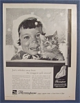 1959 Thermopane Insulating Glass w/Little Girl & Kitten