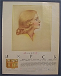 1960 Breck Shampoo with Lovely Side View of a Woman