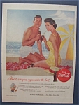 1955 Coca Cola (Coke) with Man & Woman on Beach