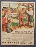 Click here to enlarge image and see more about item 9139: Vintage Ad: 1946  Greyhound